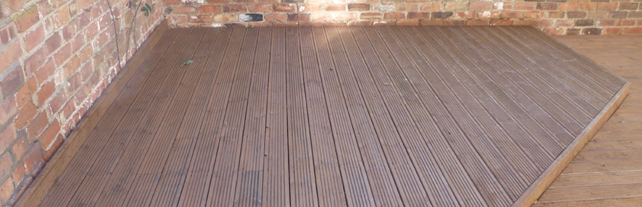 Decking Cleaned and Stained Wirral