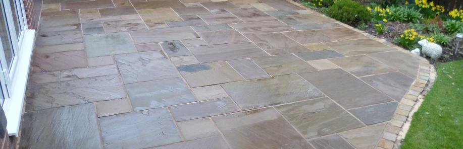 Indian Sandstone cleaned and sealed